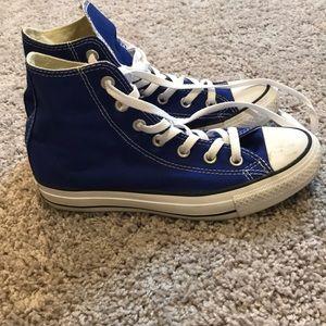 High top converse blue women's size 7